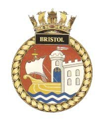 HMS Bristol badge