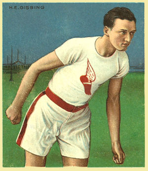 Harry Gissing - Harry Gissing, wearing the Winged Foot of the New York Athletic Club.
