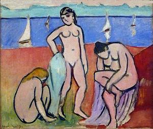 Minneapolis Institute of Art - Henri Matisse, 1907, Les trois baigneuses (Three Bathers), oil on canvas, 60.3 x 73 cm