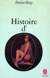Cover of a French edition of Histoire d'O featuring Corinne Clery