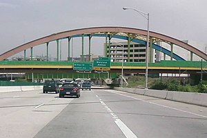 Howard Street (Baltimore) - The Howard Street Bridge, seen from Interstate 83