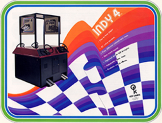 Indy 4 (video game) - Arcade flyer for Indy 4.