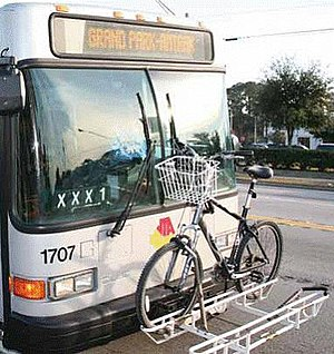Transportation in Jacksonville, Florida - bicycle racks on buses