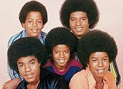 The Jackson 5 in an official Motown photo c.1971, l-r Tito, Marlon, Michael, Jackie, and Jermaine