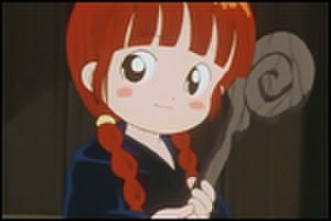 Magical Circle Guru Guru - Kukuri with her Meke Meke robe and her old staff