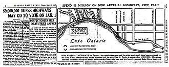 Gardiner Expressway - 1947 plan