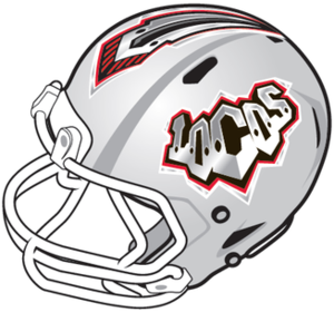 Las Vegas Locomotives - Image: Las Vegas Locos helmet