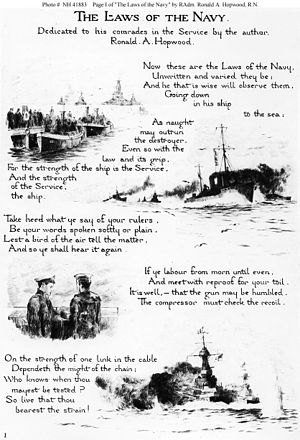 Rowland Langmaid - Laws of the Navy by Ronald Arthur Hopwood and illustrated by Langmaid