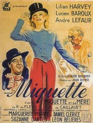 Miquette (1940 film) - Movie poster