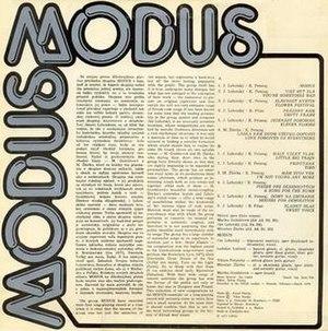 Modus (album) - Image: Modusalbum 2