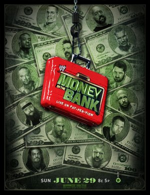 Money in the Bank (2014) - Promotional poster featuring various WWE wrestlers.