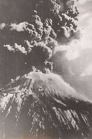 San Giorgio a Cremano - The March 1944 eruption of Vesuvius, by Jack Reinhardt, B24 tailgunner in the USAAF during World War II