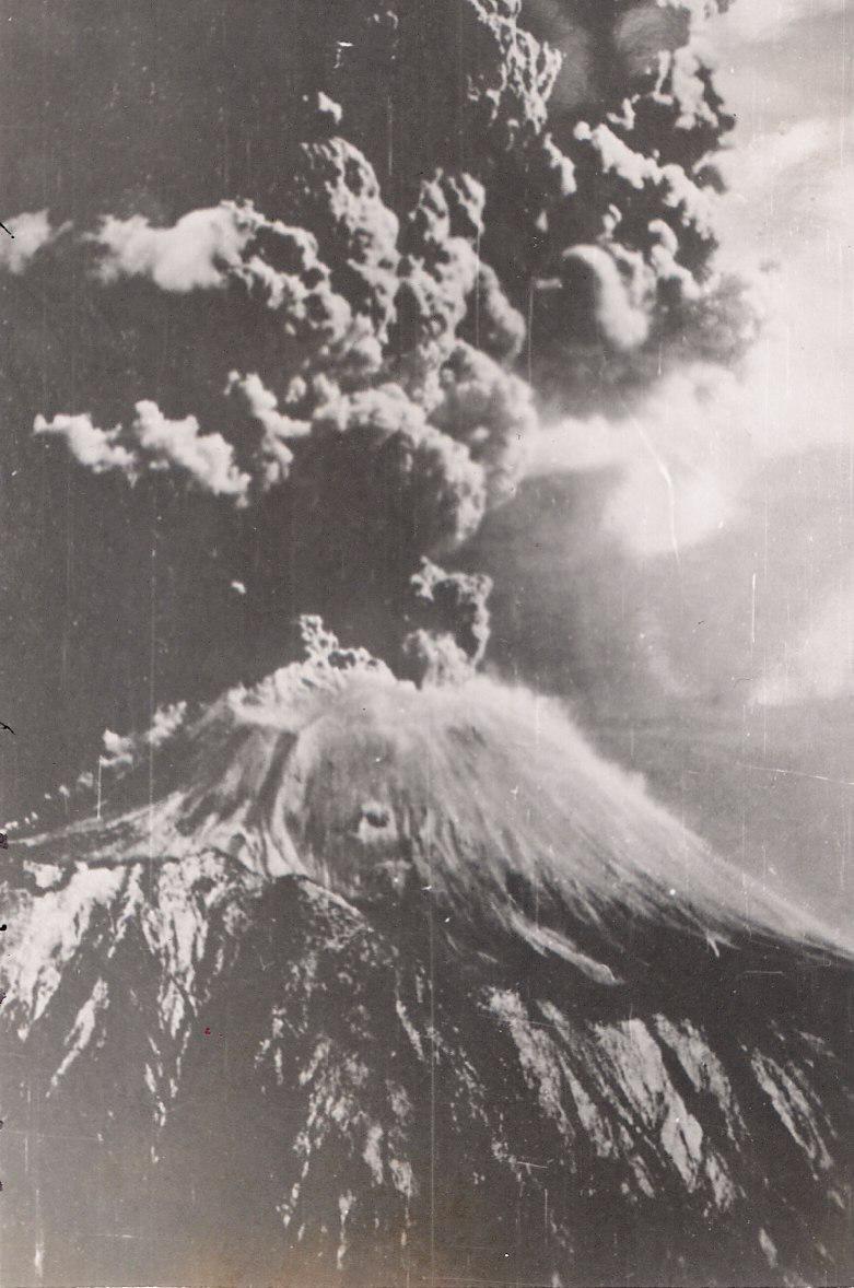 Mt Vesuvius Erupting 1944