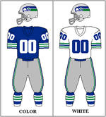 7acd881e The Seahawks uniform, 1976–1982.