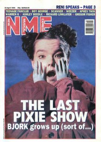 NME - Björk, April 1995. The magazine heavily championed Björk's breakthrough in the 1990s.