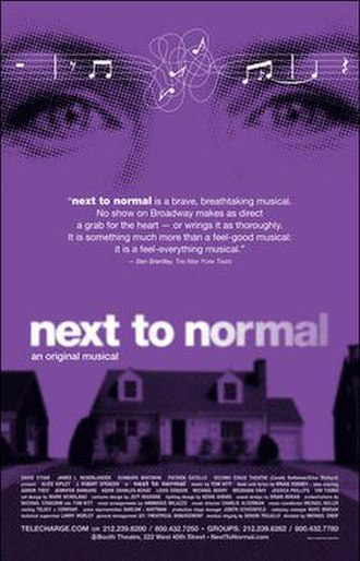 Next to Normal - Broadway promotional poster