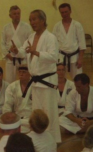 Tsutomu Ohshima - Ohshima teaching at the 50th anniversary of the Caltech Karate Club on September 2, 2007