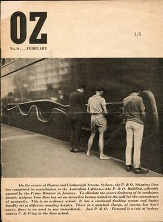 OZ (magazine) - The controversial cover of OZ Sydney, No.6, February 1964