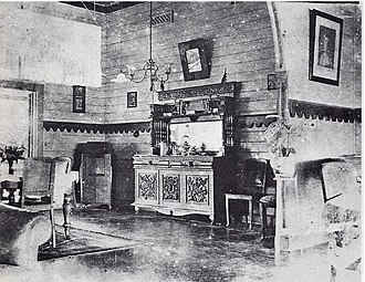Rabaul - Queen Emma's living room in Rabaul in 1914 when German New Guinea was seized and occupied by Australia.
