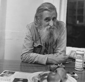 Ray Bremser - Photograph of Bremser by Allen Ginsberg (1987)