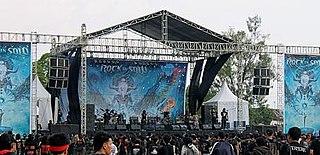 Rock In Solo Music festival held in Surakarta, Indonesia