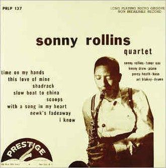 Sonny Rollins with the Modern Jazz Quartet - Image: Rollins Quartet PRLP137