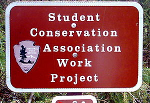Student Conservation Association - A Park Service Sign in Voyageurs National Park