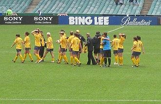 Central Coast Mariners FC (W-League) - The Mariners Women after a victory against Sydney FC.