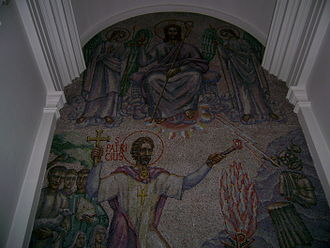 Cathedral of Christ the King, Mullingar - Saint Patrick mosaic by Boris Anrep