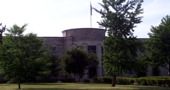 Saginaw's City Hall, completed in 1936 built of limestone and Indiana Rock