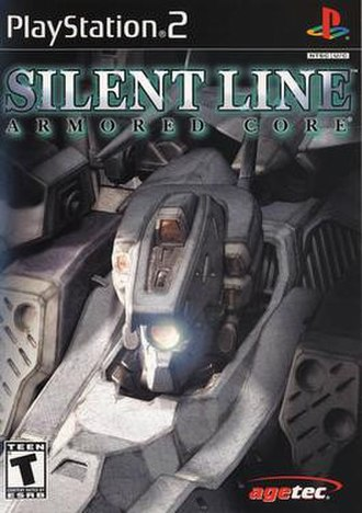 Silent Line: Armored Core - North American PlayStation 2 cover art