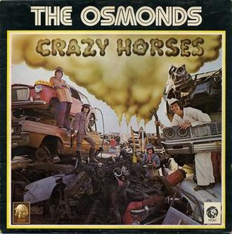 Crazy Horses (album) - Image: Theosmondscrazyhorse s
