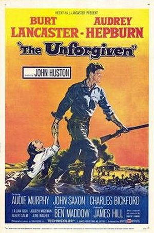 The Unforgiven (1960 film) - Theatrical release poster