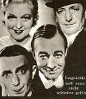 Cinema of Austria - Ungeküsst soll man nicht schlafen gehn (1936) by E. W. Emo with Hans Moser, Theo Lingen and Heinz Rühmann