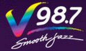 WDZH - V98.7 logo 2002-2009