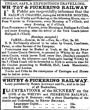 Whitby and Pickering Railway - Image: Wand P press cuttings 064