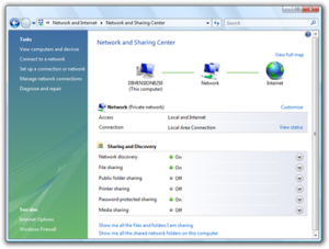 Technical features new to Windows Vista - The Network and Sharing Center