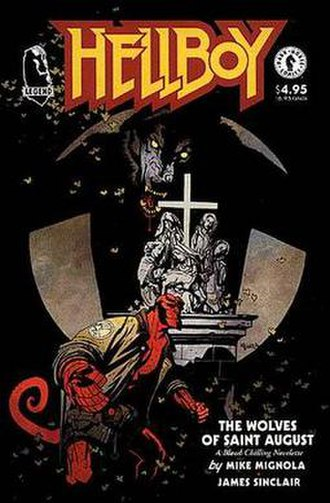 Hellboy: The Chained Coffin and Others -  Cover for The Wolves of Saint August by Mignola.