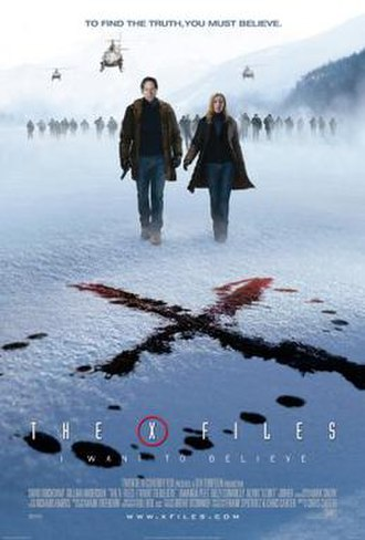 The X-Files: I Want to Believe - Theatrical release poster