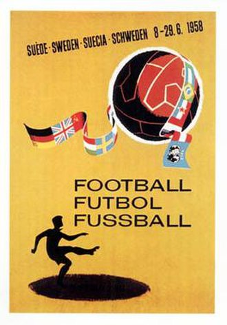 1958 FIFA World Cup - The official 1958 FIFA World Cup poster.