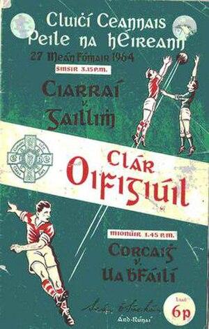 1964 All-Ireland Senior Football Championship Final - Image: 1964 All Ireland Senior Football Championship Final prog