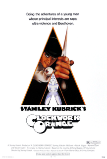 <i>A Clockwork Orange</i> (film) 1971 dystopian crime film directed by Stanley Kubrick