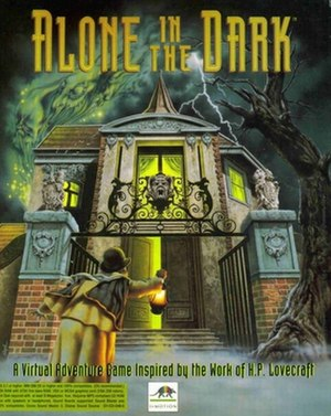 Alone in the Dark (1992 video game) - Cover art for the North American MS-DOS release and CD-ROM version in Europe