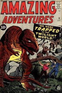 "Amazing Adventures #3 (Aug. 1961): A  ""pre-superhero Marvel"" comic, and the first to be labeled ""Marvel Comics"" (MC below Comics Code seal). Art by Jack Kirby & Dick Ayers."