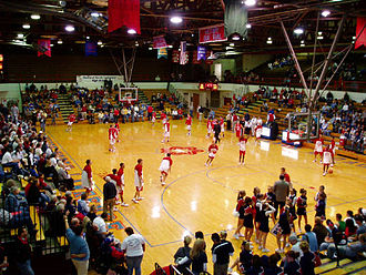 Bedford North Lawrence High School - The BNL Fieldhouse seats 5,640 spectators.