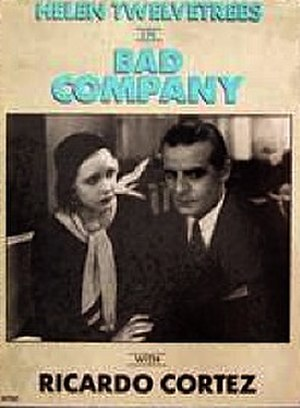 Bad Company (1931 film) - Theatrical poster for film