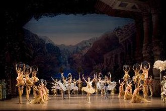 La Bayadère - The Royal Swedish Ballet in Natalia Makarova's production of La Bayadère. Pictured here is the final moment of the Grand coda from the Grand pas d'action. Stockholm, 2007. Photo by Mats Bäcker.