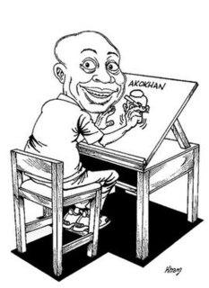 Frank Odoi (cartoonist) Kenyan artist