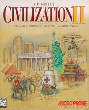 Civilization II - North American cover art of the PC version