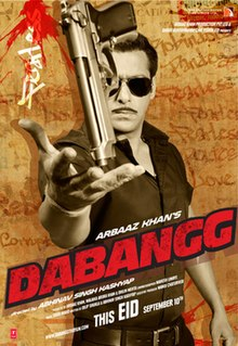 Theatrical release poster of Dabangg.